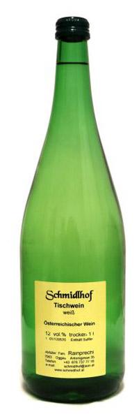 Flasche Tischwein weiß