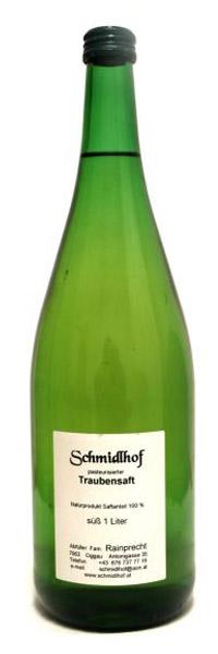 Flasche Traubensaft weiß